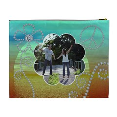 Pretty Diamond Sunset Xl Cosmetic Bag By Lil    Cosmetic Bag (xl)   Ye6mvrv5hhfu   Www Artscow Com Back
