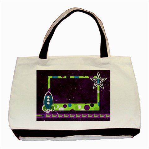 Tote A Space Story 1001 By Lisa Minor   Basic Tote Bag   Qvk8mdk8qpuc   Www Artscow Com Front