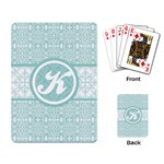 Tiffany Blue Lace Monogram Playing Cards - Playing Cards Single Design