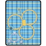 Blanket-Ella in Blue- Medium 1001 - Fleece Blanket (Medium)