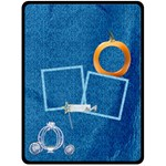 Blanket-Large-Ella in Blue 1001 - Fleece Blanket (Extra Large)