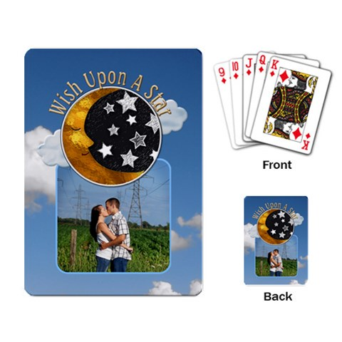 Wish Upon A Star Playing Cards By Lil    Playing Cards Single Design   Kfrvayto8zd5   Www Artscow Com Back