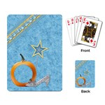 Playing Cards-Ella in Blue 1002 - Playing Cards Single Design