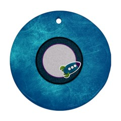 Ornament A Space Story 1001 By Lisa Minor   Round Ornament (two Sides)   Crx11dvzrzs2   Www Artscow Com Back
