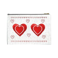 All Of My Heart Medium Cosmetic Bag By Catvinnat   Cosmetic Bag (large)   9z5ge5a66e3t   Www Artscow Com Back