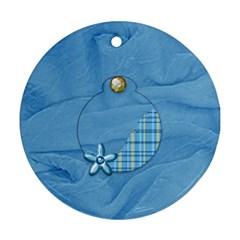 Ornament Ella In Blue 1001 By Lisa Minor   Round Ornament (two Sides)   Kwgfu5nknn4n   Www Artscow Com Back