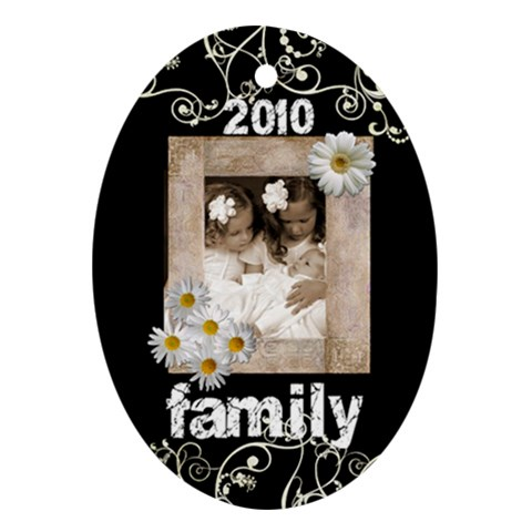 Family 2010 Oval Ornament By Catvinnat   Ornament (oval)   Zv8kyu5bv1pm   Www Artscow Com Front