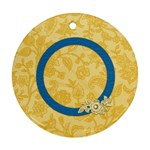 Ornament-Ella in Blue 1004 - Round Ornament (Two Sides)
