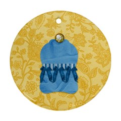 Ornament Ella In Blue 1004 By Lisa Minor   Round Ornament (two Sides)   Uonclemkx7ph   Www Artscow Com Back