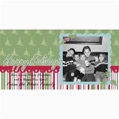 Happy Holiday Card 2 By Martha Meier   4  X 8  Photo Cards   23qij36abxk2   Www Artscow Com 8 x4 Photo Card - 1