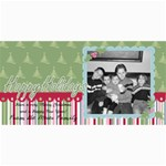 Happy Holiday card 2 - 4  x 8  Photo Cards