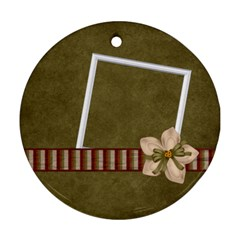 Ornament Gingy Holiday 1004 By Lisa Minor   Round Ornament (two Sides)   9qkbncmyfzcc   Www Artscow Com Front