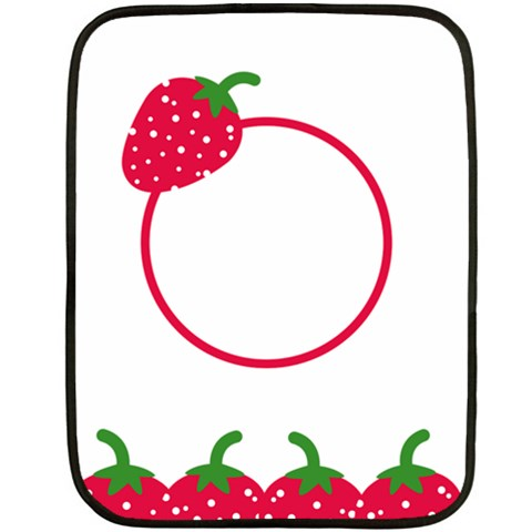 Strawberries Blanket 02 By Carol   Fleece Blanket (mini)   I7cjmr2rp1w0   Www Artscow Com 35 x27 Blanket