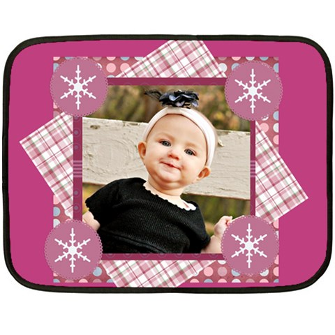 Pink Winter Girl Blanket By Danielle Christiansen   Fleece Blanket (mini)   K4tot26ccrc3   Www Artscow Com 35 x27 Blanket
