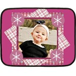 pink winter girl blanket - Mini Fleece Blanket