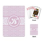 Pink Lace Monogram Playing Cards - Playing Cards Single Design