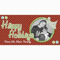 Happy Holidays Card 4 By Martha Meier   4  X 8  Photo Cards   Mxl8fd09etzq   Www Artscow Com 8 x4 Photo Card - 1