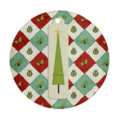 Joy Ornament 2 By Sheena   Round Ornament (two Sides)   Yqup0htyh0do   Www Artscow Com Back