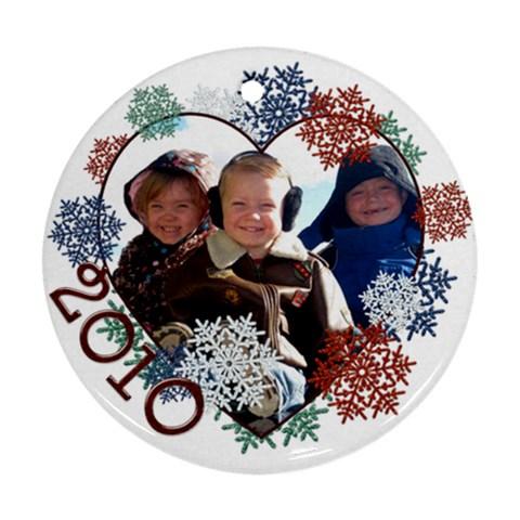 2010 Ornament By Scrappyliz73   Ornament (round)   8m0urf5lz90m   Www Artscow Com Front