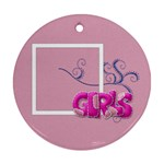 Ornament-Girls - Round Ornament (Two Sides)