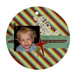 Joy ornament 4 - Round Ornament (Two Sides)