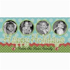 Happy Holidays 6 By Martha Meier   4  X 8  Photo Cards   98azv8irbmxh   Www Artscow Com 8 x4 Photo Card - 9