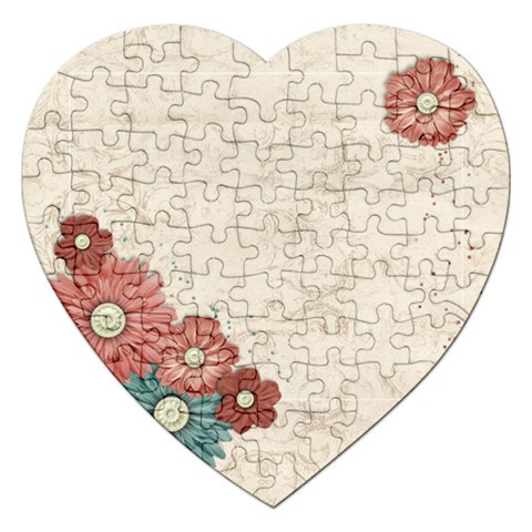 Flowers Puzzle By Mikki   Jigsaw Puzzle (heart)   T2t7v72otymi   Www Artscow Com Front
