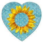 Sunflower photo frame-puzzle - Jigsaw Puzzle (Heart)