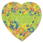 Flowers Heart-puzzle - Jigsaw Puzzle (Heart)