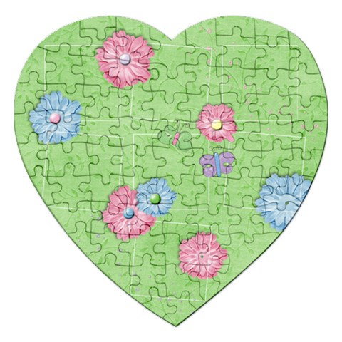 Spring Flowers Puzzle By Mikki   Jigsaw Puzzle (heart)   Z73jnzc1yy89   Www Artscow Com Front