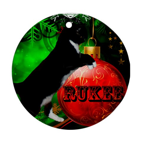 Ruka By Morgan   Ornament (round)   Ke3war6luxmh   Www Artscow Com Front