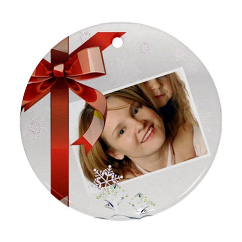 Christmas By Wood Johnson   Ornament (round)   Kcbjpngg0976   Www Artscow Com Front