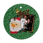 Christmas Joy 1-Sided Round Ornament - Ornament (Round)