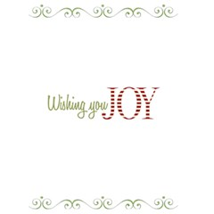 Wish You Joy Card 5x7 By Jen   Greeting Card 5  X 7    41gd95yfhv0i   Www Artscow Com Back Inside