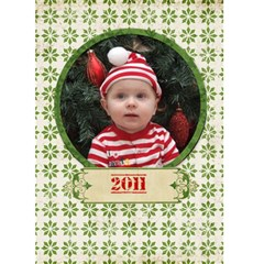 Merry Christmas 5x7 Card By Jen   Greeting Card 5  X 7    40wkuiq0q5kv   Www Artscow Com Front Cover