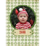 Merry Christmas 5x7 card - Greeting Card 5  x 7