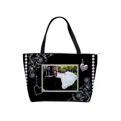 Elegant Black & Pearl Shoulder Handbag By Lil    Classic Shoulder Handbag   8u0vx33p36yz   Www Artscow Com Front