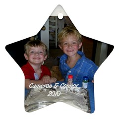 Cameron & Connor Ornament By Cindy Blair Speigle   Star Ornament (two Sides)   Yigtp56uzdnk   Www Artscow Com Front