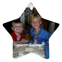 Cameron & Connor Ornament By Cindy Blair Speigle   Star Ornament (two Sides)   Yigtp56uzdnk   Www Artscow Com Back