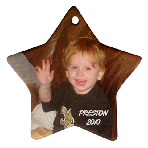 Preston Ornament 2 By Cindy Blair Speigle   Ornament (star)   8avmjxbbqpzn   Www Artscow Com Front