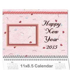 Family Calendar 2013   Happy New Year By Daniela   Wall Calendar 11  X 8 5  (12 Months)   Hvlagp96ck0y   Www Artscow Com Cover