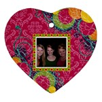 Bright Patterns Heart Ornament - Ornament (Heart)