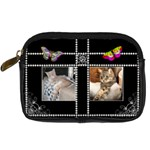 Butterfly Pearl Design Digital Camera Case - Digital Camera Leather Case