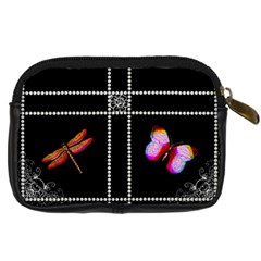Butterfly Pearl Design Digital Camera Case By Lil    Digital Camera Leather Case   3pe0zpou1giz   Www Artscow Com Back