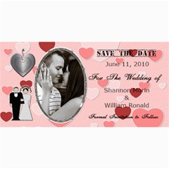 Wedding Save The Date Cards #2 By Lil    4  X 8  Photo Cards   Tbmyfd81oxwo   Www Artscow Com 8 x4 Photo Card - 3