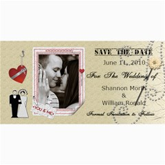 Wedding Save The Date Cards #3 By Lil    4  X 8  Photo Cards   Y192c4k0y1lu   Www Artscow Com 8 x4 Photo Card - 2