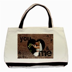 You & Me Forever Leopard Print Tote Bag By Catvinnat   Basic Tote Bag (two Sides)   Tf3nugoeee3s   Www Artscow Com Front