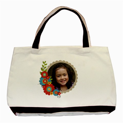 Tote Bag  Cluster Flowers By Jennyl   Basic Tote Bag   Ijhp1aftvrjn   Www Artscow Com Front