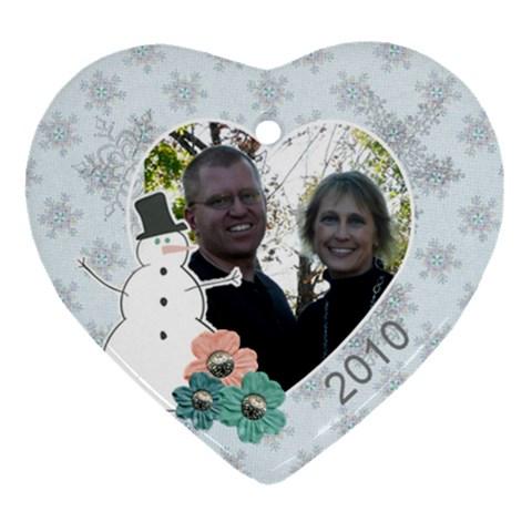J&m By Natasha Vermilyea   Ornament (heart)   K2hti4f3t5qf   Www Artscow Com Front