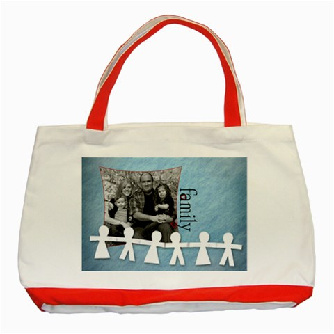 Family Classic Tote By Amanda Bunn   Classic Tote Bag (red)   Euz7wwt7rg3l   Www Artscow Com Front